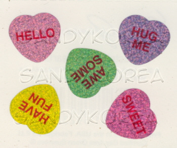 MG-Sparkle Pastel Candy Hearts 4