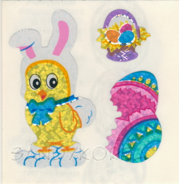 Glittery Chicks in Rabbit Costume